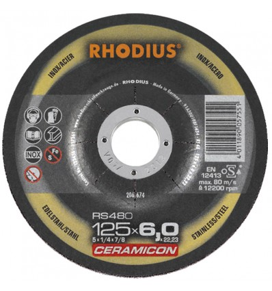 Disco desbaste Rhodius Ceramicon RS480
